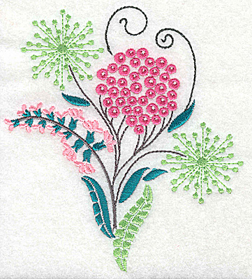 Embroidery Design: Dainty flowers 7B 4.47w X 4.98h