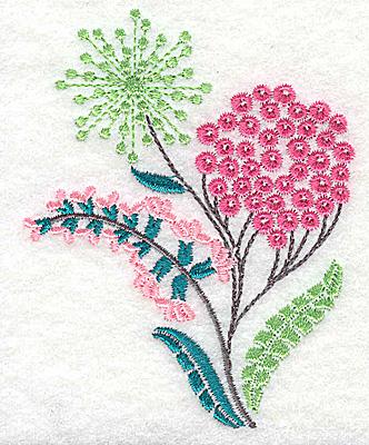 Embroidery Design: Dainty flowers 7C 2.89w X 3.64h