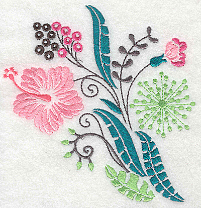 Embroidery Design: Dainty flowers 8A large 4.73w X 4.96h