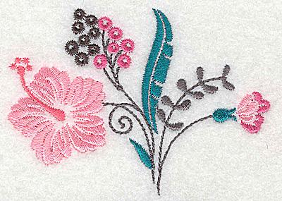 Embroidery Design: Dainty flowers 8B 3.57w X 2.57h