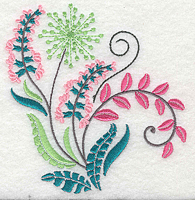 Embroidery Design: Dainty flowers 9A 4.14w X 4.35h