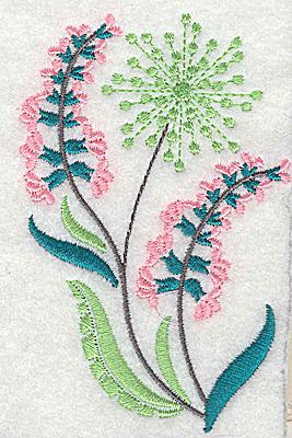 Embroidery Design: Dainty flowers 9B 2.53w X 3.89h