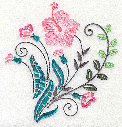 Embroidery Design: Dainty flowers 10A 3.98w X 4.32h