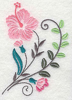 Embroidery Design: Dainty flowers 10B 2.69w X 3.86h