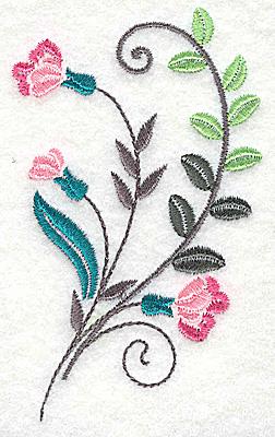 Embroidery Design: Dainty flowers 10C 2.36w X 3.89h