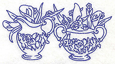 Embroidery Design: Creamer and sugar bowl large 4.97w X 2.68h