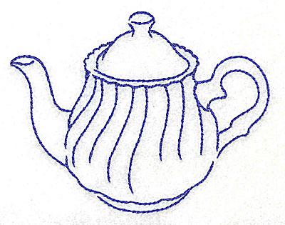 Embroidery Design: Teapot 3.87w X 3.02h