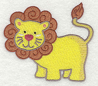 Embroidery Design: Lion Small 3.14h x 3.51w