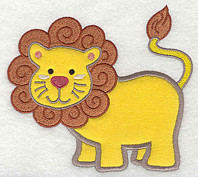 Embroidery Design: Lion Applique4.44h x 4.89w