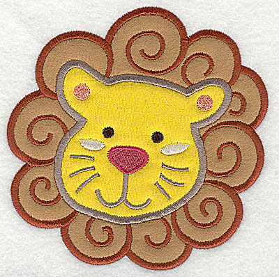 Embroidery Design: Lion Head Double Applique4.92h x 4.84w