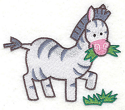 Embroidery Design: Zebra Small3.28h x 3.79w