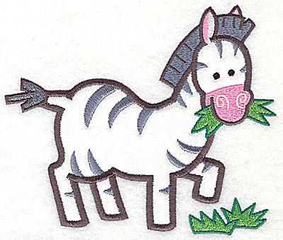 Embroidery Design: Zebra Applique4.94h x 5.78w
