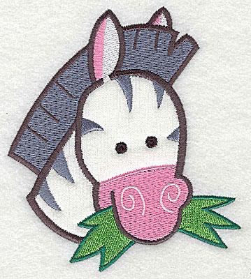 Embroidery Design: Zebra Head Appllique4.84h x 4.28w