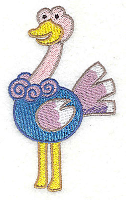 Embroidery Design: Ostrich Small3.76h x 2.18w