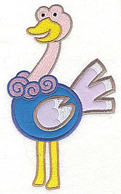 Embroidery Design: Ostrich Double Applique4.06h x 6.97h