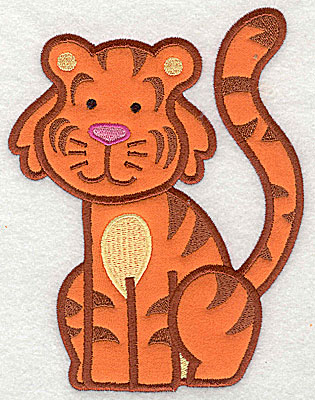 Embroidery Design: Tiger Applique4.90h x 6.33w