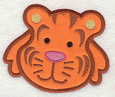 Embroidery Design: Tiger Head Applique3.24h x 3.89w