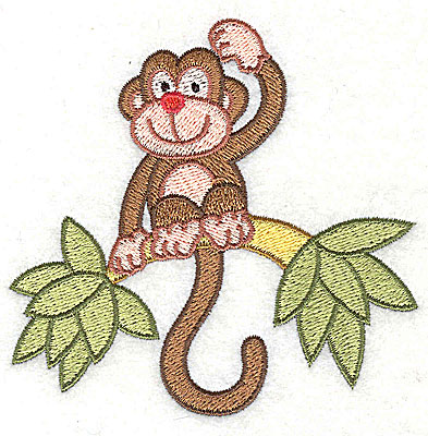 Embroidery Design: Monkey on a Limb3.67h x 3.80w