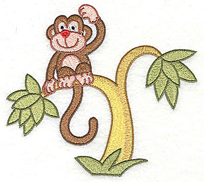 Embroidery Design: Monkey in a Tree4.44h x 4.96w
