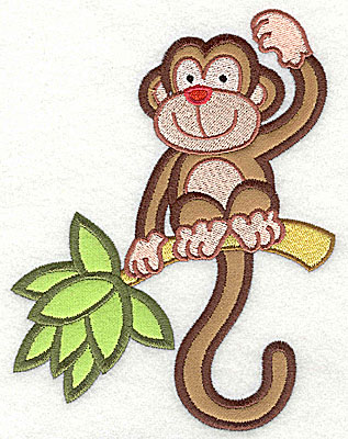 Embroidery Design: Monkey Double Applique4.77h x 6.26w