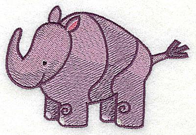 Embroidery Design: Rhinoceros Small2.47h x 3.74w