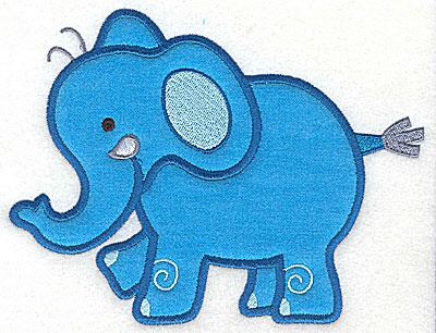 Embroidery Design: Elephant Applique4.94h x 6.45w