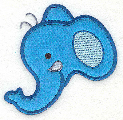 Embroidery Design: Elephant Head Applique3.85h x 3.89w