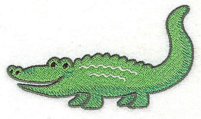 Embroidery Design: Crocodile Small2.15hx3.81w