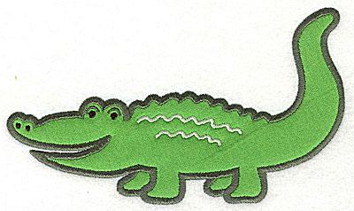 Embroidery Design: Crocodile Applique4.11h X 6.94w