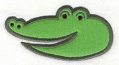Embroidery Design: Crocodile Head Applique1.99h x 3.83w