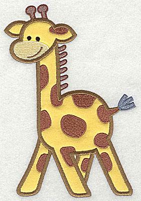 Embroidery Design: Giraffe Applique4.73h x 6.97w