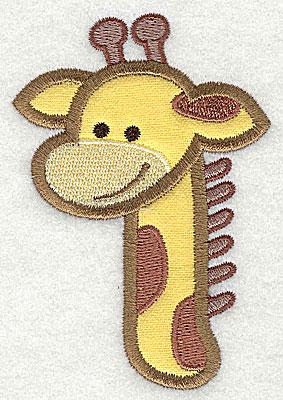 Embroidery Design: Giraffe Head Applique3.86h x 2.64w