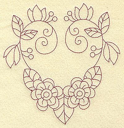 Embroidery Design: Floral violet 1 large 5.96w X 6.23h