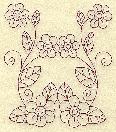 Embroidery Design: Floral violet 2 medium 4.24w X 4.85h