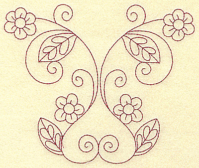 Embroidery Design: Floral violet 3 large 6.21w X 5.24h