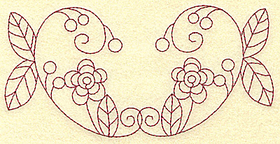 Embroidery Design: Floral violet 5 large 6.20w X 3.03h