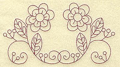 Embroidery Design: Floral violet 6 large 6.22w X 3.41h