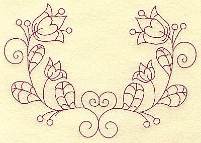 Embroidery Design: Floral violet 8 large 6.25w X 4.32h