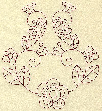 Embroidery Design: Floral violet 9 large 5.53w X 6.20h