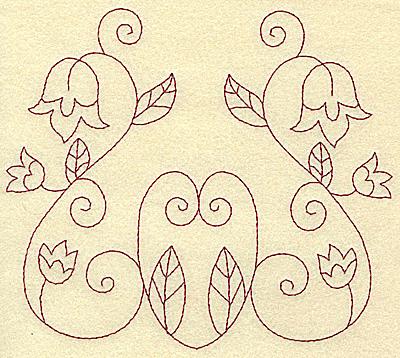 Embroidery Design: Floral violet 10 large 6.23w X 5.53h