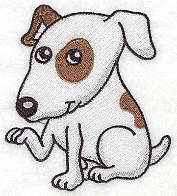 Embroidery Design: Devoted dog A large 4.09w X 4.59h