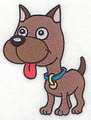 Embroidery Design: Devoted dog B large 3.45w X 4.63h