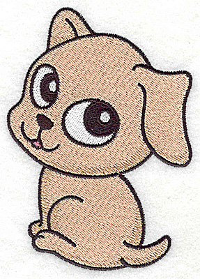 Embroidery Design: Devoted dog C large 3.28w X 4.59h
