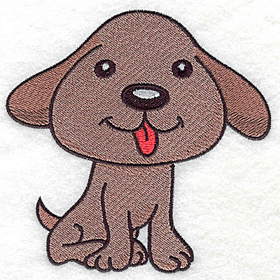 Embroidery Design: Devoted dog D large 4.59w X 4.58h