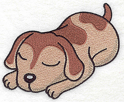 Embroidery Design: Devoted dog F large 4.59w X 3.76h