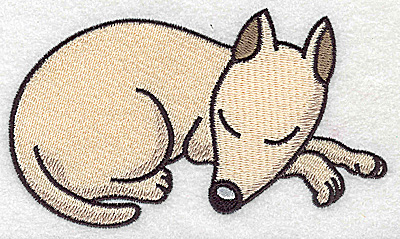 Embroidery Design: Devoted dog G large 4.92w X 2.77h