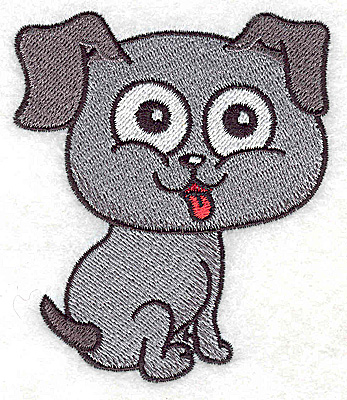 Embroidery Design: Devoted dog I small 2.99w X 3.56h