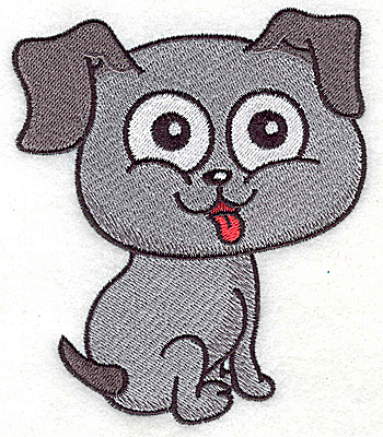 Embroidery Design: Devoted dog I large 3.88w X 4.62h