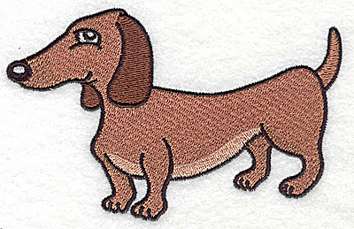 Embroidery Design: Devoted dog J large 4.94w X 3.14h