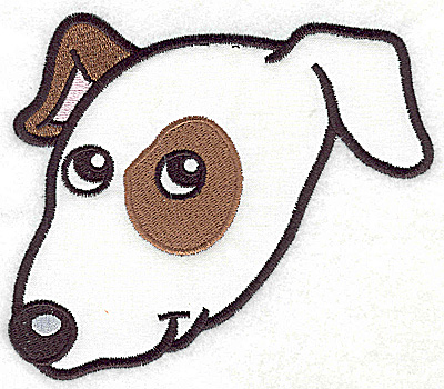 Embroidery Design: Devoted dog A applique 5.23w X 4.58h